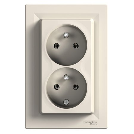 Asfora - Zásuvka podwójne 2P+PE s funkcí neměnností fází, bílá EPH9800121 Schneider Electric