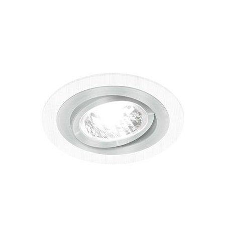 Bodové Stropní svítidlo ALUM C, kulatá, 1 x GU10, bílá/chrom, 3222, Struhm