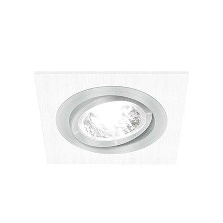 Bodové Stropní svítidlo ALUM D, hranatá, 1 x GU10, bílá/chrom, 3217, Struhm
