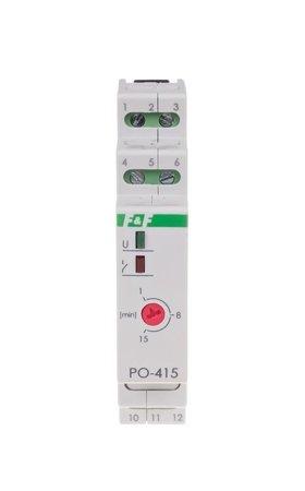 Časové relé na lištu 35mm PO-415 24 V F&F
