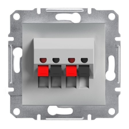 Dvojitá reproduktorová zásuvka bez rámečku, hliník Schneider Electric Asfora EPH5700161