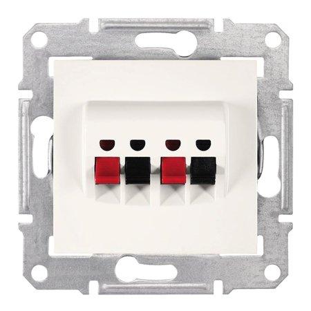 Dvojitá reproduktorová zásuvka krémová Sedna SDN5400123 Schneider Electric