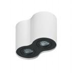 Dvojité nástěnné svítidlo Bross 2 bílá černá Azzardo GM4200