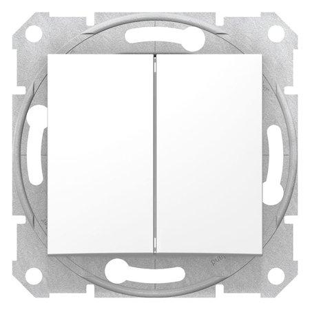 Dvojité tlačítko bílá Sedna SDN1100121 Schneider Electric