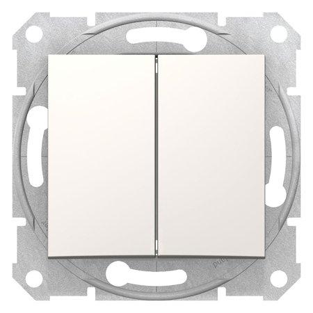 Dvojité tlačítko krémová Sedna SDN1100123 Schneider Electric
