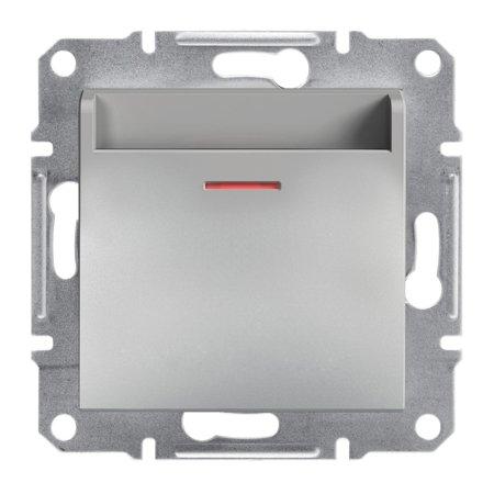 Hotelový vypínač (mechanický) bez rámečku, hliník Schneider Electric Asfora EPH6200161