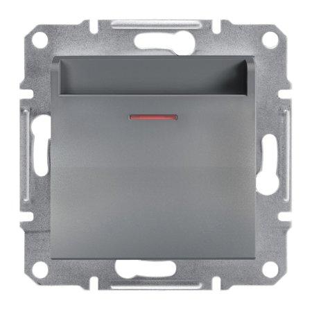 Hotelový vypínač (mechanický) bez rámečku, ocel Schneider Electric Asfora EPH6200162