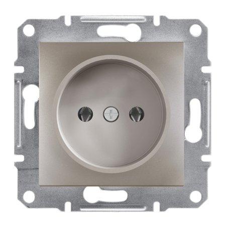 Jednoduchá zásuvka 2P bez rámečku, hnědá Schneider Electric Asfora EPH3000169