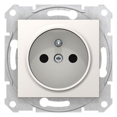 Jednoduchá zásuvka s uzeměním a clonami krémová Sedna SDN2800123 Schneider Electric