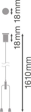 Kabel pro montáž závěsných svítidel LINEAR IndiviLED SUSPENSION WIRE LEDVANCE
