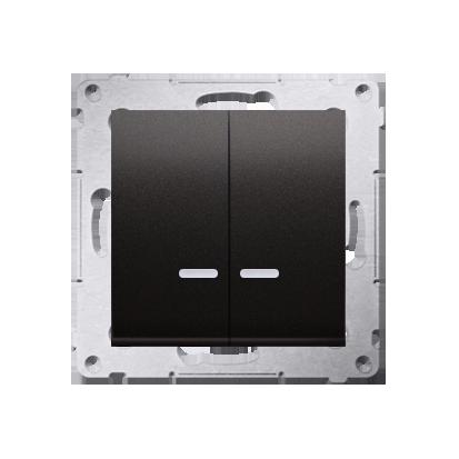 Kontakt Simon 54 Premium Antracit Přepínač sériový s podsvícením LED, pro verzi IP44 DW5ABL.01/48