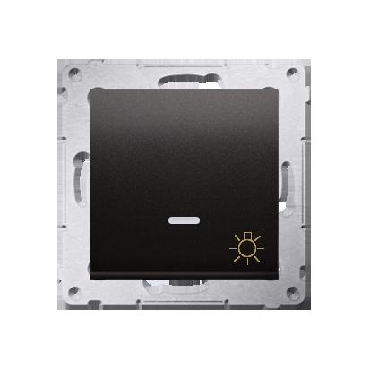 """Kontakt Simon 54 Premium Antracit Tlačítko """"světlo"""" s podsvícením LED rychlospojka, DS1L.01/48"""