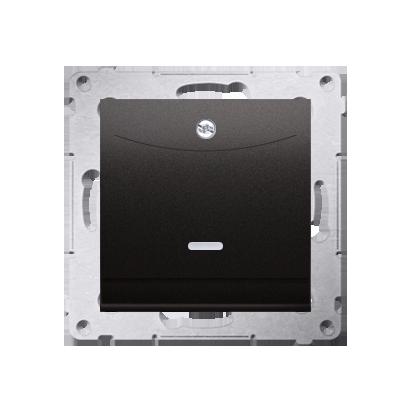 Kontakt Simon 54 Premium Antracit Vypínač hotelový s podsvícením. Jmenovitý proud 10 (2) A . DWH1.01/48