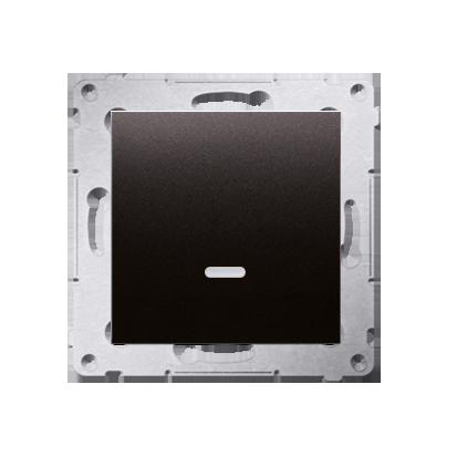 Kontakt Simon 54 Premium Antracit Vypínač jednonásobný s podsvícením LED (modul) X šroubové koncovky, DW1AL.01/48