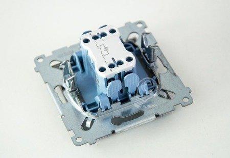 Kontakt Simon 54 Premium Antracit Vypínač jednonásobný s podsvícením LED (modul) rychlospojka, DW1L.01/48