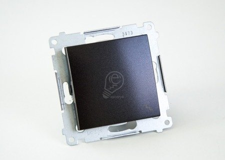 Kontakt Simon 54 Premium Antracit Vypínač schodišťový (modul) rychlospojka, DW6.01/48