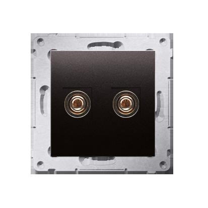 Kontakt Simon 54 Premium Antracit Zásuvka reproduktoru jednonásobná (modul) DGL2.01/48