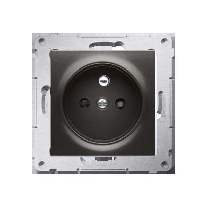 Kontakt Simon 54 Premium Antracit Zásuvka s uzemněním a clonami rychlospojka, DGZ1CZ.01/48