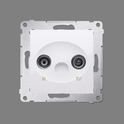 Kontakt Simon 54 Premium Bílý Anténní zásuvka R-TV průběžná (modul), útlum. TV a R 10 dB, DAP10.01/11