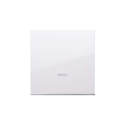 Kontakt Simon 54 Premium Bílý Jednotná klávesa s očkem pro vypínače/Podsvícené tlačítka, DKW1L/11