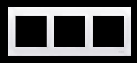 Kontakt Simon 54 Premium Bílý Rámeček 3-násobný univerzální pro sádrokartonové krabice IP20/IP44, DRK3/11