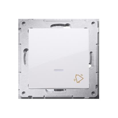 """Kontakt Simon 54 Premium Bílý Tlačítko """"zvonek"""" s podsvícením LED rychlospojka, DD1L.01/11"""