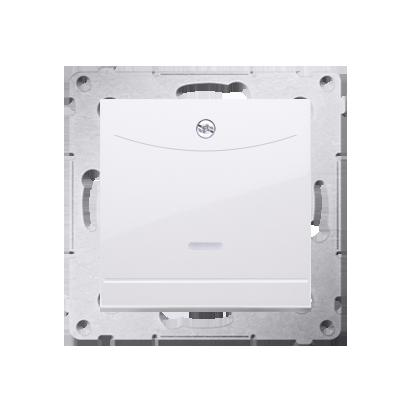 Kontakt Simon 54 Premium Bílý Vypínač hotelový dvojnásobný -2Z s podsvícením. Jmenovitý proud 10 (2) A . DWH2.01/11