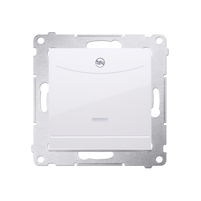 Kontakt Simon 54 Premium Bílý Vypínač hotelový s podsvícením. Jmenovitý proud 10 (2) A . DWH1.01/11