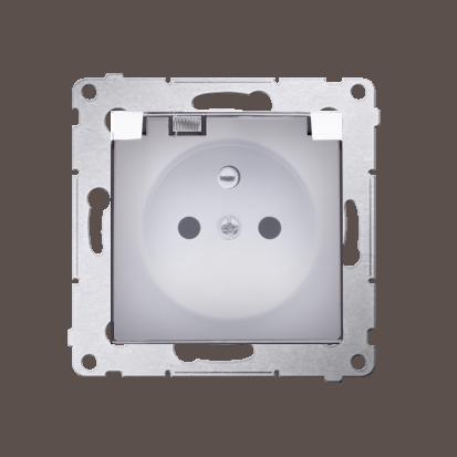 Kontakt Simon 54 Premium Bílý Zásuvka pro verzi IP44 transparentní klapka, DGZ1BZ.01/11A