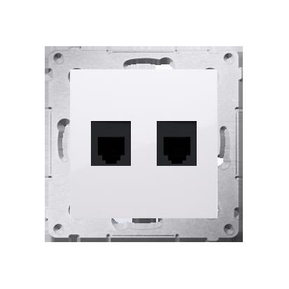 Kontakt Simon 54 Premium Bílý Zásuvka telefónní dvojitá RJ12 (modul), DT2.01/11