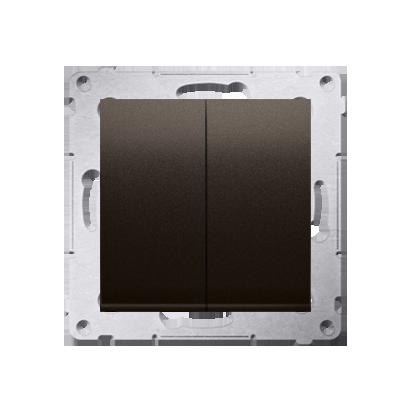 Kontakt Simon 54 Premium Hnědá, matné Tlačítko dvojnásobný zkratovací bez piktogramu rychlospojka, DP2.01/46