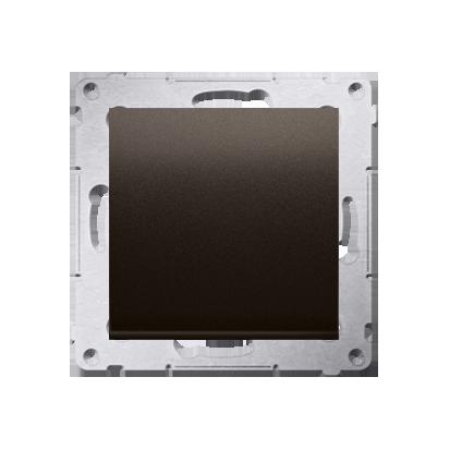 Kontakt Simon 54 Premium Hnědá, matné Tlačítko jednopólové zkratovací bez piktogramu X šroubové koncovky, DP1A.01/46