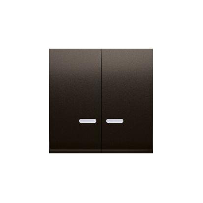 Kontakt Simon 54 Premium Hnědá, matný Klávesy s čočkou pro vypínače/Dvojnásobná klávesa s podsvícením, DKW5L/46
