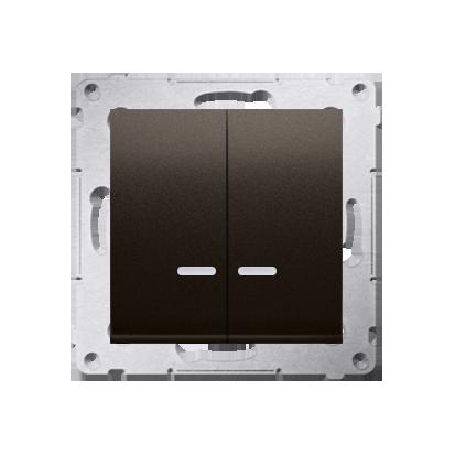 Kontakt Simon 54 Premium Hnědá, matný Přepínač sériový s podsvícením LED, pro verzi IP44 DW5BL.01/46