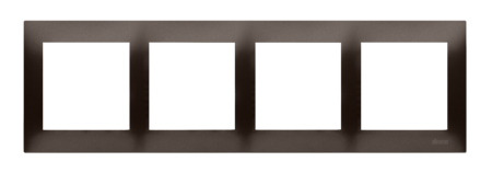 Kontakt Simon 54 Premium Hnědá, matný Rámeček 4-násobný univerzální pro sádrokartonové krabice IP20/IP44, DRK4/46