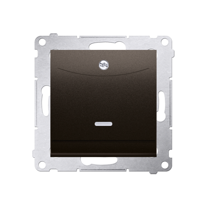 Kontakt Simon 54 Premium Hnědá, matný Vypínač hotelový s podsvícením. Jmenovitý proud 10 (2) A . DWH1.01/46