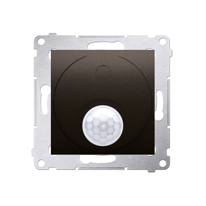 Kontakt Simon 54 Premium Hnědá, matný Vypínač se senzorem pohybu s relé se zabezpečením (modul) DCR11P.01/46