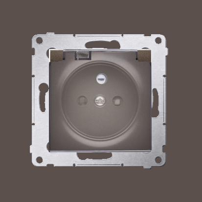 Kontakt Simon 54 Premium Hnědá, matný Zásuvka pro verzi IP44 klapka transp, DGZ1BUZ.01/46A