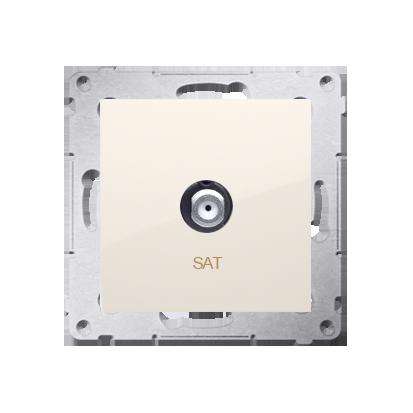 Kontakt Simon 54 Premium Krémová Anténní zásuvka SAT jednonásobná (modul) DASF1.01/41