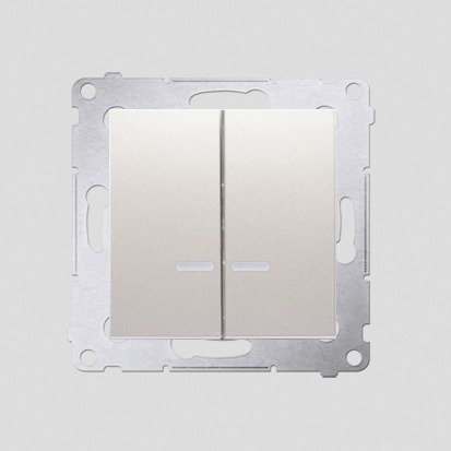 Kontakt Simon 54 Premium Krémová Přepínač sériový s podsvícením LED, pro verzi IP44 DW5BL.01/41