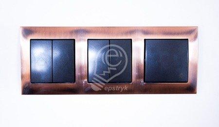 Kontakt Simon 54 Premium Měď Rámeček 4-násobný univerzální IP20/IP44, DR4/36