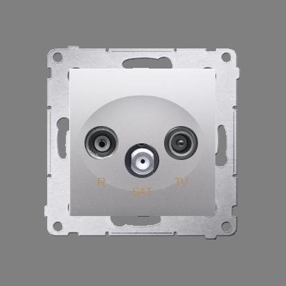Kontakt Simon 54 Premium Stříbrná Anténní zásuvka R-TV-SAT koncová/uzavírací (modul), DASK.01/43
