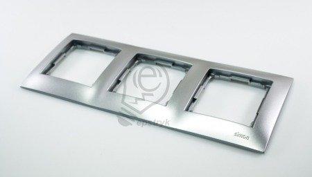 Kontakt Simon 54 Premium Stříbrná Rámeček 3-násobný univerzální IP20/IP44, DR3/43