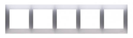 Kontakt Simon 54 Premium Stříbrná Rámeček 5-násobný univerzální pro sádrokartonové krabice IP20/IP44, DRK5/43