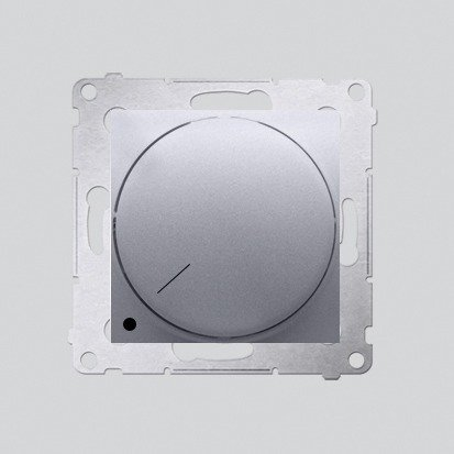 Kontakt Simon 54 Premium Stříbrná Stmívač otočný dvoupólový do stmívatelných LED DS9L2.01/43