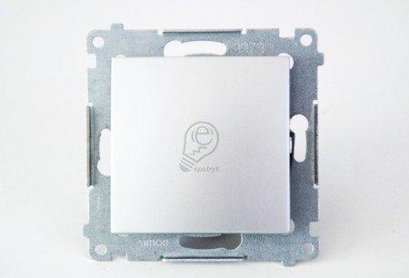 Kontakt Simon 54 Premium Stříbrná Tlačítko jednopólové zkratovací bez piktogramu X šroubové koncovky, DP1A.01/43