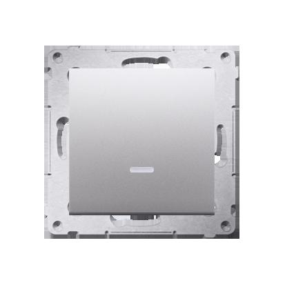 Kontakt Simon 54 Premium Stříbrná Vypínač jednonásobný s podsvícením LED (modul) X šroubové koncovky, DW1AL.01/43