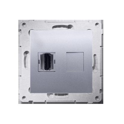Kontakt Simon 54 Premium Stříbrná Zásuvka HDMI (modul), DGHDMI.01/43