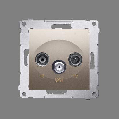 Kontakt Simon 54 Premium Zlatá Anténní zásuvka R-TV-SAT koncová/uzavírací (modul), DASK.01/44