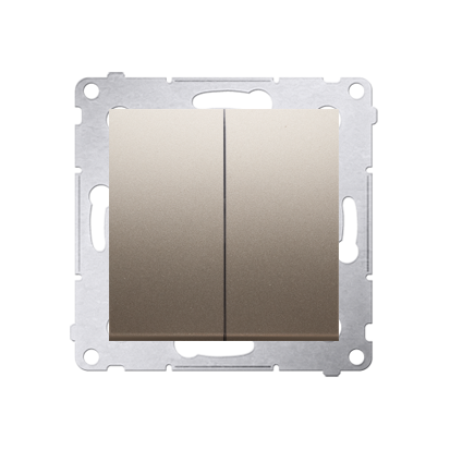Kontakt Simon 54 Premium Zlatá Přepínač sériový (modul) X šroubové koncovky, DW5A.01/44